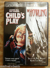 Child's Play/The Howling (DVD, 2010, 2-Disc Set) Tested! Works!