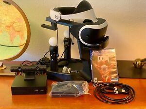 Sony PlayStation VR PSVR Doom Arkham Bundle w/ Headset, Camera, Move Controllers