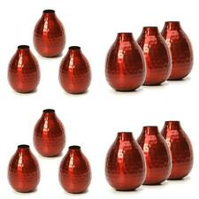 """Hosley Set of 3 Red Metal Bud Vases - 4.5"""" High. Wonderful Accent Piece..."""