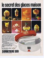PUBLICITE ADVERTISING 064 1973 SEB sorbetière le secret des glaces maison