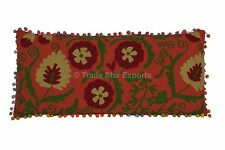 Indian Suzani Embroidery Pillow Case Boho Decorative Vintage Throw Cushion Cover