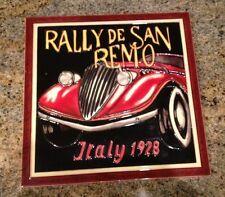 Rally de San Remo Italy 1928, Pottery wall Art