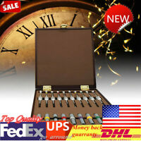 NEW 0.6mm-2.0mm Steel Screwdrivers w/ Weight Sleeves for Watch Repair 10PCS