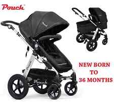 NEW 2 IN 1 BABY TODDLER PRAM STROLLER JOGGER ALUMINIUM WITH BASSINET BLACK
