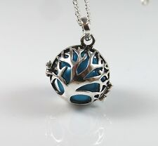 Tree of life harmony ball ,Mexican bola , Jewish jewelry , seed of life pendant