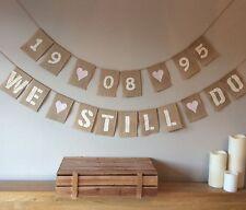❤️ Wedding Renewal Of Vows Bunting Banner Vintage Hessian Burlap❤️
