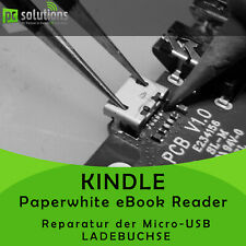 Intercambio de reparación micro USB hembrilla de carga Amazon Kindle Paperwhite eBook Reader