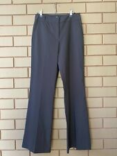 Cue Chocolate Brown Classic Corporate Workwear Trouser Pants Size 6