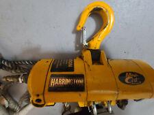 Harrington Mini Cat Air Hoist With Cord Control 500 Lbs