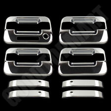 For Ford F150 F-150 2004-2013 2014 4 Chrome Door Handle Covers Keypad w/oPSK
