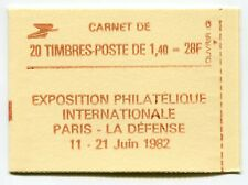 RC 5964 FRANCE CARNET 2102-C 8a SABINE 20 TIMBRES A 1,40f MNH NEUF **