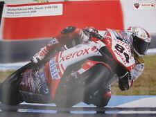 Poster Xerox Ducati 1198 F09 WSB 2009 #84 Michel Fabrizio (ITA)