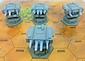 BattleTech/CityTech - Mapscale Buildings - 4x Heavy Turrets - Full Set
