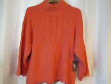 NWT Vince Camuto Salmon Cable Knit Sweater High Neck XL Org $89.00