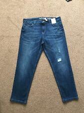 M&s Indigo Collection Girlfriend  Jeans  Size 14  Medium Bnwt Free Sameday P&p