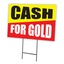 Cash For Gold Full Color Double Sided Sign