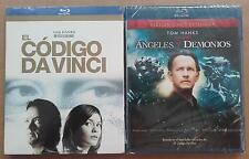 CODIGO DA VINCI + ANGELES Y DEMONIOS BLU-RAY BLURAY NUEVO TOM HANKS Dan Brown