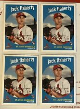 Jack Flaherty Lot Of 4 2018 Topps Archives Color Sp Rookie Rc's #4! Cardinals!