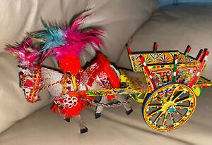 Vintage Sicilian Horse Mule Cart - Made In Italy  Ferrara Medieval Knights