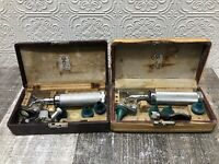 Lot of Vintage Welch Allyn Otoscope Ophthalmoscope with Accessories In Case