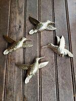 Vintage #4 Syroco MCM Wall PLAQUES Homco Interior gold hummingbird Hanging 7669
