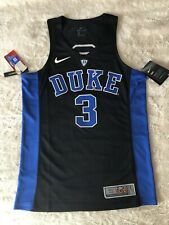 Duke Blue Devils Nike Elite Authentic Black Basketball Jersey #3 Sz: S NWT $120