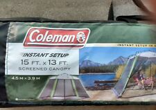 Coleman Screened 15 x 13 Tent - Sun Protection UV Rated Excellent-Brand New