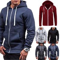 Men Long Sleeve Hoodie Sweatshirt Sweater Casual Hooded Coat Jacket Pullover