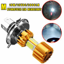 H4 18W LED 3 COB Motorcycle Headlight Bulb 2000LM 6000K Hi/Lo Beam Light White-P