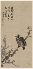 Chinese traditional painting Sumi Ink Free hand style Bird perched on old tree