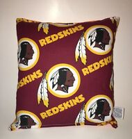 RedSkins Pillow NFL Pillow Washington Red Skins Pillow HANDMADE USA