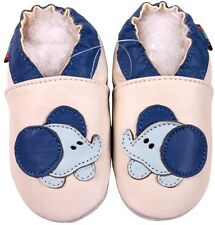 shoeszoo soft sole leather shoes cream baby elephant  0-6m S