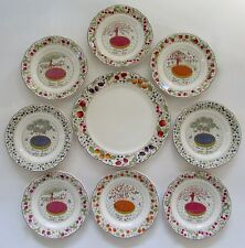 GIEN France LES TARTES Dessert Plates & Serving Cake Plate Set 9