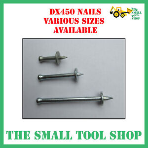 NAILS TO FIT HILTI DX450, GENUINE TORNADO / JCP BOX 100 NAILS *VARIOUS SIZES*