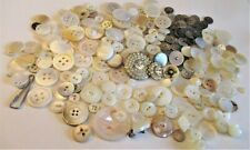 """New listing Lot of Vintage/Antique Mother of Pearl Shell Buttons Rhinestone """"mother daughter"""