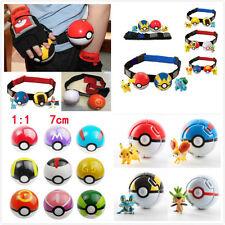 Pikachu Pokemon Clip Carry Kids Poke Ball Belt Play Game Cosplay Pop-up Master