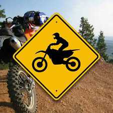 Dirt Bike Crossing Sign- Enduro Trail Marker - Motocross - Fun Motorcycle Gifts