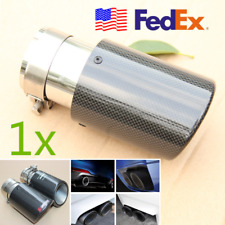 US Ship Tail Exhaust Pipe Tip 63mm Car Muffler Accessories Carbon Fiber Sleeve