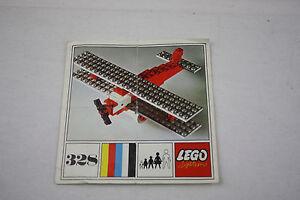 Lego® System 328 nur Bauanleitung only building instructions von Flugzeug