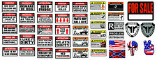 Rc 1/10 Scale Warning Decal Stickers Axial Crawler Graphic Garage 1.9 2.2 Rc Set