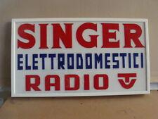 INSEGNA RADIO TV SINGER OLD SIGN CARTELLO PUBLICITA' PROMO MADE IN ITALY