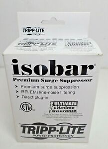 TRIPP LITE ISOBAR SURGE PROTECTOR ISOBLOK2-0 2 OUTLET,NIB
