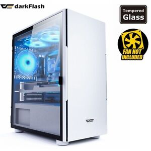 PC Case darkFlash NEO 202 Luxury M-ATX ITX Door opening of Tempered Glass White