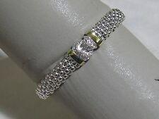 Designer LAGOS S/S 18K Diamond Pave' Caviar Link Bracelet