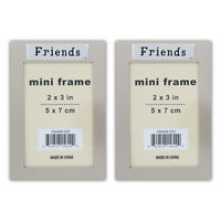 "2 ""Friends"" 2"" X 3"" Mini Picture Silver Photo Frame"