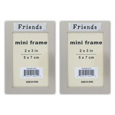"2 ""Friends"" 2"" X 3"" Mini Picture Silver Photo Frame"