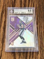 2016 Donruss Elite Carson Wentz Purple /25 RC BGS 9.5 True Gem Rookie