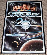 STAR TREK 1966-1986 20th Anniversary Poster Enterprise NC 1701 Kirk Spock McCoy