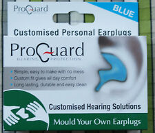 Mould Your Own MYO Earplugs Proguard effective to 24dB Blue Hearing Protection