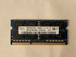 LOT OF 12 SK HYNIX 4GB PC3-12800S LAPTOP RAM